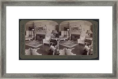 President Roosevelts Reception Room At Sagamore Hill Framed Print by Litz Collection