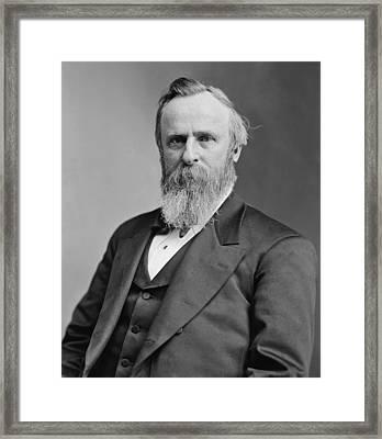 President Rutherford Hayes Framed Print