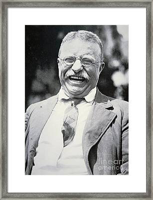 President Theodore Roosevelt Framed Print by American Photographer