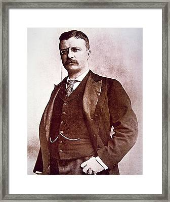 President Theodore Roosevelt Framed Print by American School