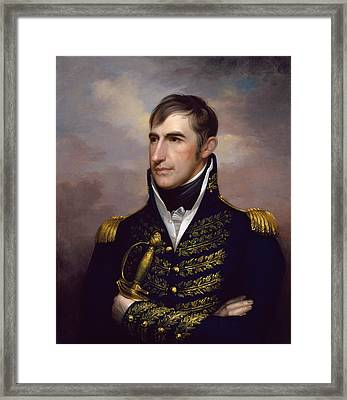 President William Henry Harrison Framed Print by War Is Hell Store