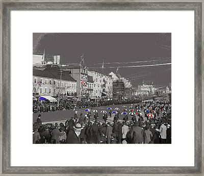 President William Mckinley's Second Inaugural Parade Pennsylvania Avenue Washington D.c. March  1901 Framed Print by David Lee Guss