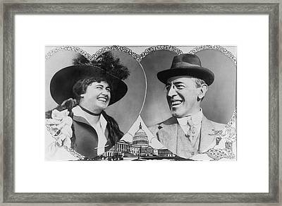 President Wilson To Wed Framed Print by Underwood Archives