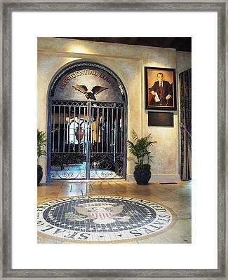 Presidential Lounge - The Mission Inn Hotel Framed Print