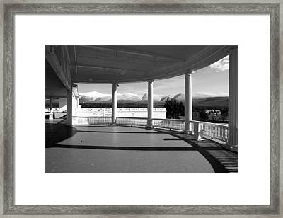 Presidential Porch Framed Print