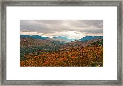 Presidential Range In Autumn Watercolor Framed Print by Brenda Jacobs