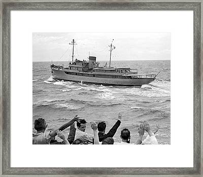 Presidential Yacht At Sea Framed Print