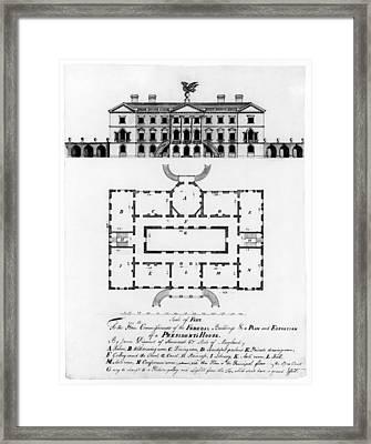 Presidents House, C1792 Framed Print