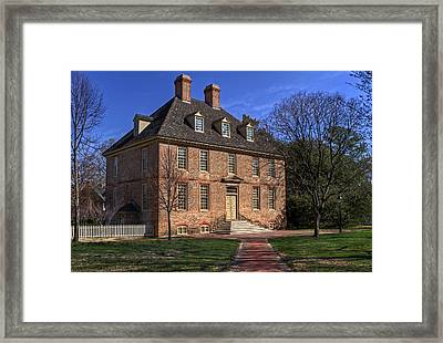 Framed Print featuring the photograph President's House College Of William And Mary by Jerry Gammon