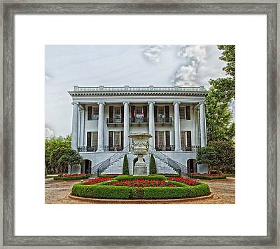 President's Mansion - University Of Alabama Framed Print
