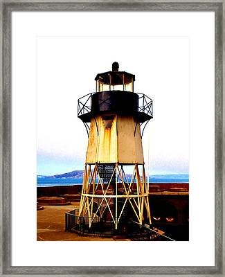 Presidio Lighthouse Framed Print by Sharon Costa