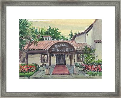 Presidio Officers' Club Framed Print by Donald Maier