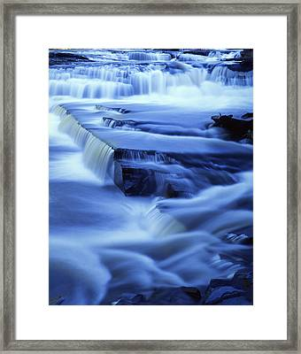 Presque Isle Falls Framed Print by Ray Mathis