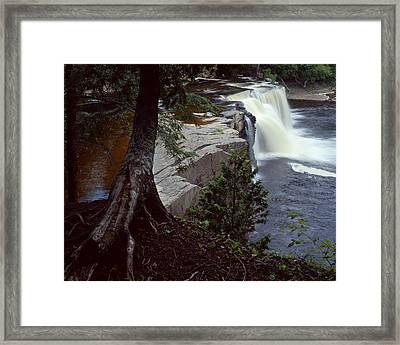 Presque Isle Falls Framed Print by Tim Hawkins