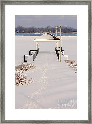 Presquile Provincial Park In Winter Framed Print