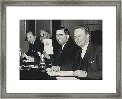 Press Conference On Defence White Paper Framed Print by Retro Images Archive