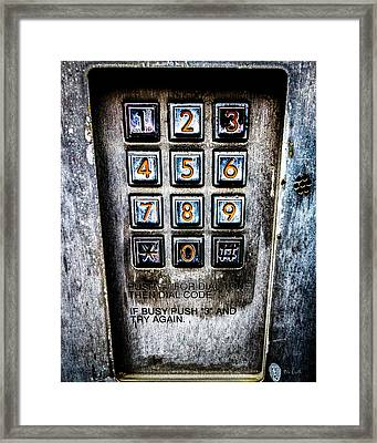 Press Three And Try Again Framed Print by Bob Orsillo