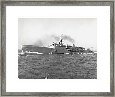 Press Visit To H. M. S. Exmouth The Royal Navy's First Framed Print by Retro Images Archive