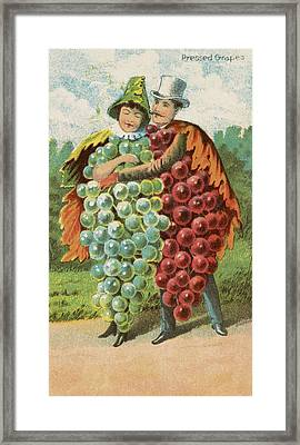Pressed Grapes Framed Print