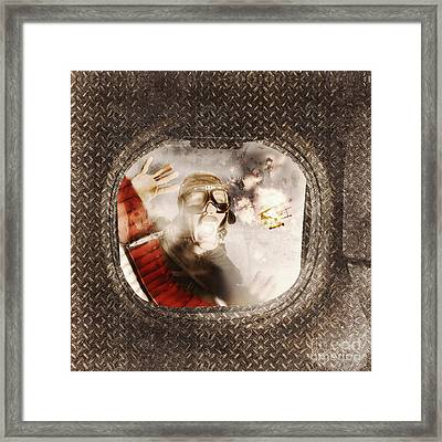 Pressing Issues Of A Window Pow Framed Print
