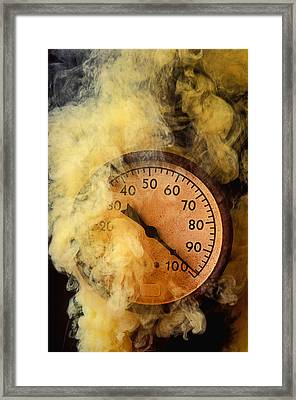 Pressure Gauge With Smoke Framed Print by Garry Gay
