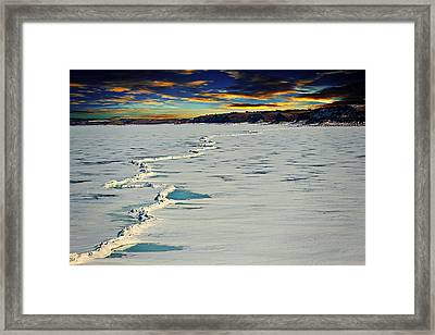 Pressure Ridge On Lake Sakakawea Framed Print