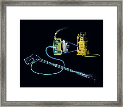 Pressure Washer Framed Print