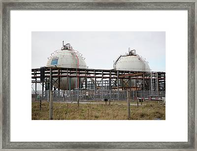 Pressurised Gas Containers Framed Print by Public Health England