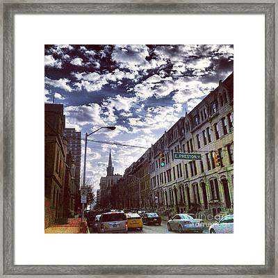 Framed Print featuring the photograph Preston And St. Paul by Toni Martsoukos