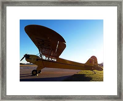 Preston Aviation Piper Cub 003 Framed Print