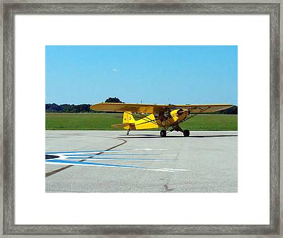 Framed Print featuring the photograph Preston Aviation Piper Cub  by Chris Mercer