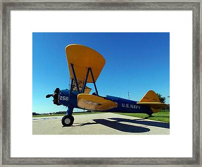 Framed Print featuring the photograph Preston Aviation Stearman 001 by Chris Mercer