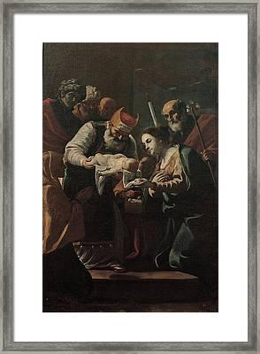 Preti Mattia, Presentation Of Jesus Framed Print
