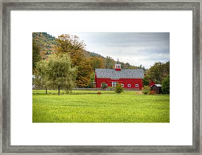 Prettiest Barn In Vermont Framed Print