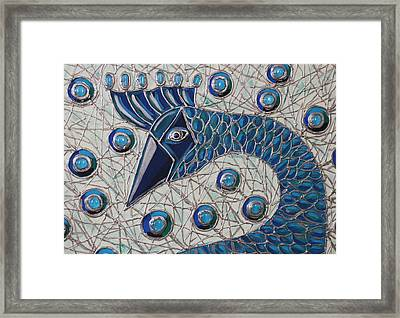 Pretty As A Peacock 2 Framed Print