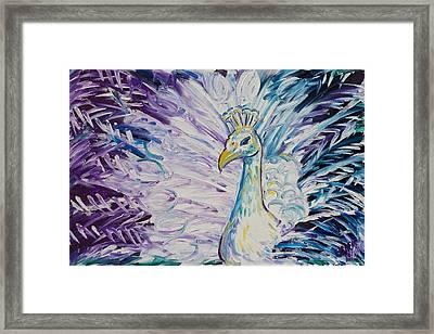 Pretty As A Peacock Framed Print by Jessica Keith