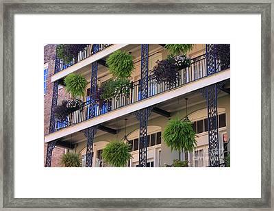 Pretty Balcony Framed Print by Carol Groenen