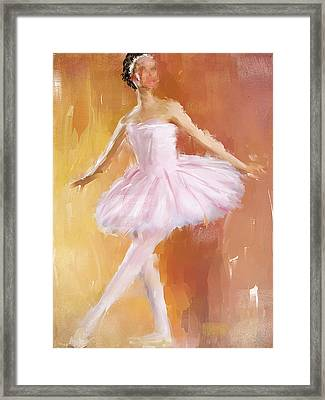 Pretty Ballerina Framed Print by Lourry Legarde