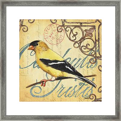Pretty Bird 3 Framed Print by Debbie DeWitt