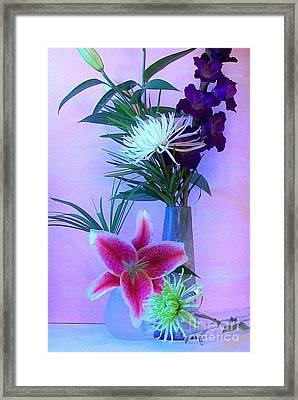 Pretty Bouquet Framed Print by Marsha Heiken