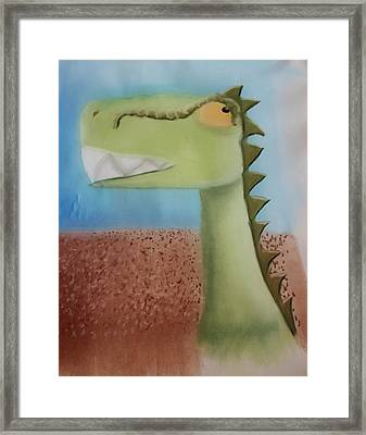 Dinoart Raptor Framed Print