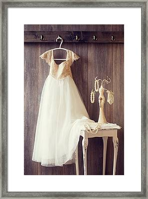 Pretty Dress Framed Print by Amanda Elwell