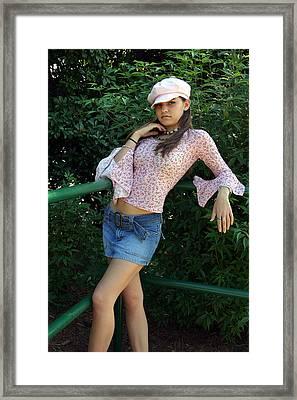 Pretty Girl Standing Framed Print by Joseph C Hinson Photography