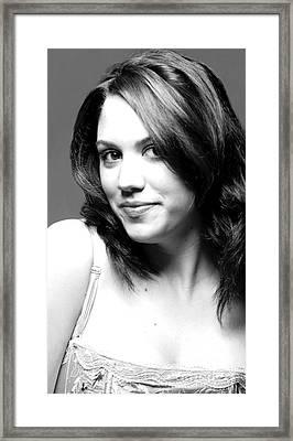 Pretty Heather Framed Print
