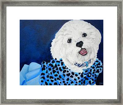 Pretty In Blue Framed Print by Debi Starr