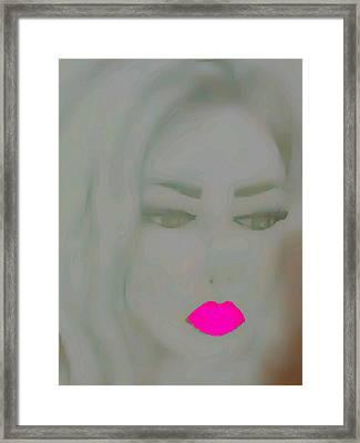 Pretty In Neon Pink Framed Print by Alicia Zarceno