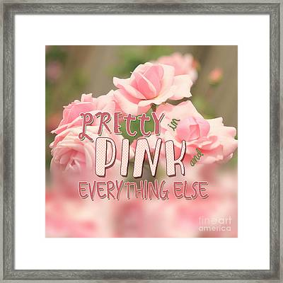Pretty In Pink And Everything Else Hybrid Tea Roses Framed Print
