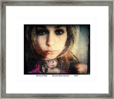 Pretty In Pink Framed Print by Donald Yenson