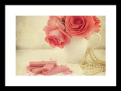 Pink Pearl Framed Prints