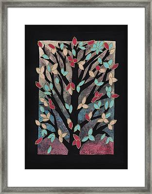 Pretty In Pink Maple Framed Print